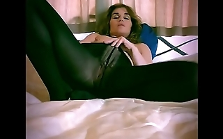 Desperate british milf rip her nylons/ tights to get to her pussy