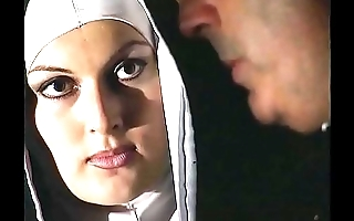 Horny nun wants a hard cock in her immoral pest