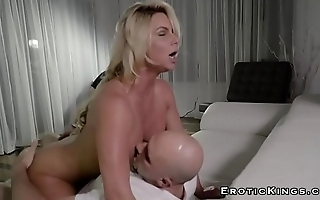 Milf receiving big hard cock while her husband watch