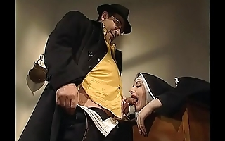 Shameless nun anal fucked on every side her abbey