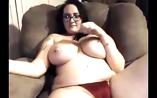 Hot girl topless chatting contain cum look-alike