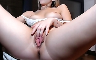 Hot Blonde Babe Toys Pussy &amp_ Rubs Clit - More at CamAngelsLive.com