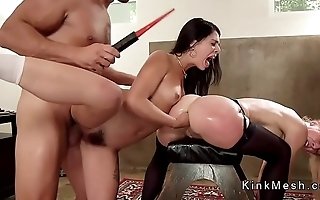 Dude fists and fucks fiance in threesome
