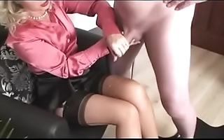 Best Mom Wanking off Dad Over Will not hear of Stockings. See pt2 at goddessheelsonline.co.uk