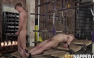 Koby Lewis &amp_ Tyler Underwood in nasty BDSM play with wax