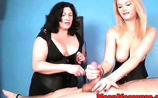 Gorgeous CTB babes ruin clients orgasm