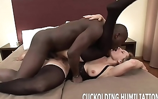 I will stifle on his big black cock in front of you