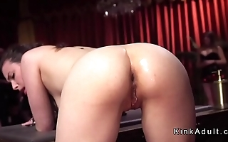 Hot busty and big asses slaves tormented