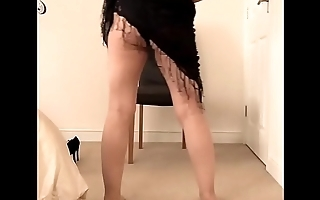 Beautiful british milf does a solo striptease and masturbation for you guys