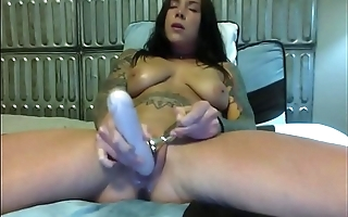 Felicity Feline squirting with dildo