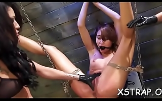 Seductive bimbo enjoys coarse servitude sex