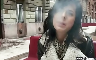 Public Sex With Euro Teen And Horny New chum Outdoor 11