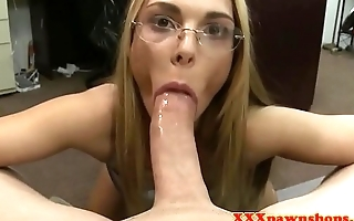 Teen pawnee amateur doggystyled after blowjob