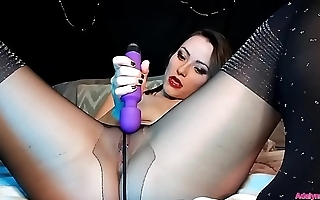 AdalynnX - Sheer Pantyhose Facesit Soaking