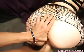 Tattooed punk babe gets assfucked in POV