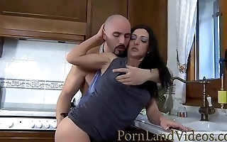 creampie kitchen fuck with slutty wife Carla Pons