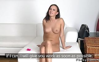 Slim Euro amateur bangs fake agent