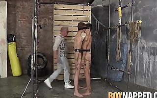 Sub twinks tied up to in any case other and disciplined by master