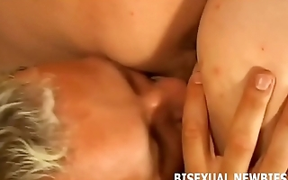 We can take turns sucking his big cock