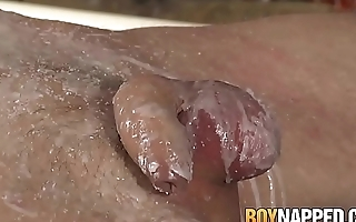 Verecund twink punished with hot candle wax and fucked