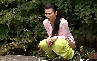 Bursting To Pee In A Public Park, Young Girl Faces An Embarrassing Situation