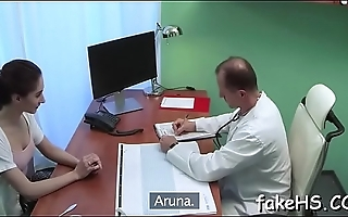 Beautiful doctor is getting screwed